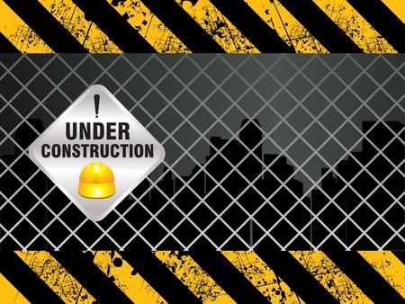 bouwkraan: abnstract glanzende bouw achtergrond vector illustratie Stock Illustratie