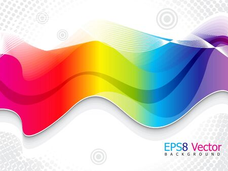 rainbow background: abstract colorful rainbow background template illustration