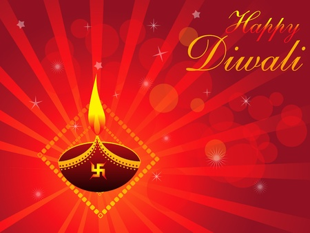 deepak: abstract deepawali background with divali illustration Illustration