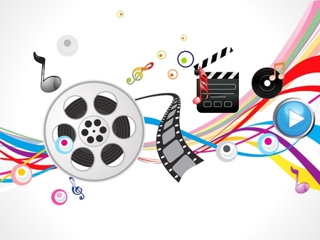 abstract footage action background  Vector