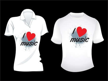 sport wear: abstract musical tshirt design illustration