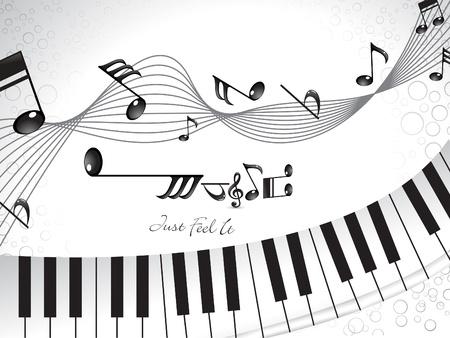 música de fondo abstracto con piano  Foto de archivo - 10539511