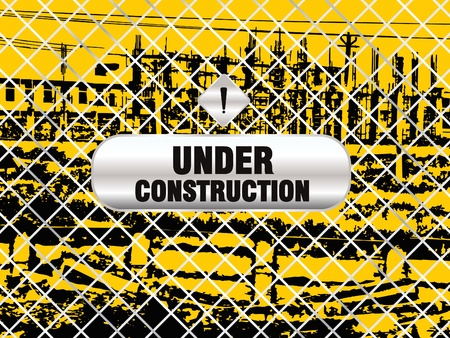rebuild: abstract under construction background