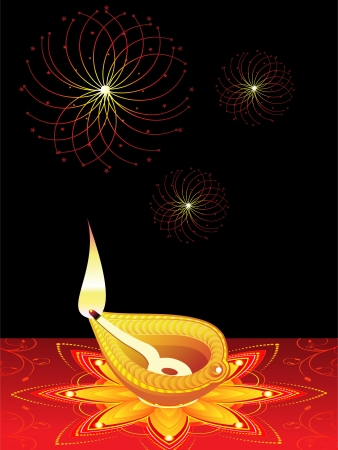 abstract diwali concept vector illustration Vector