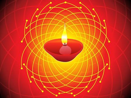 hinduismo: concepto abstracto diwali fondo de pantalla ilustración vectorial Vectores