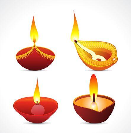 candil: concepto abstracto de múltiples deepak ilustración vectorial Vectores