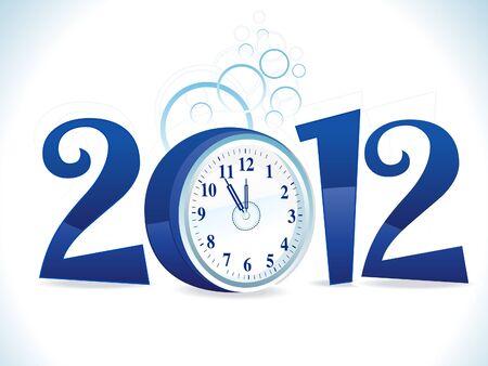 abstracto azul brillante año nuevo texto ilustración vectorial Foto de archivo - 10763383