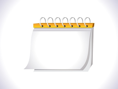 calender icon: abstract blank calender icon