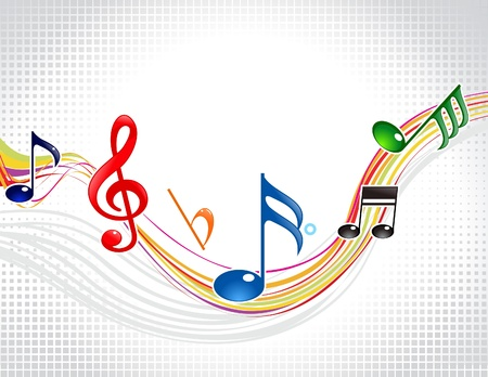 abstract colorful musical wave Stock Vector - 10763446