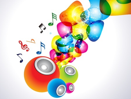 abstract colorful sound background Stock Vector - 10763453