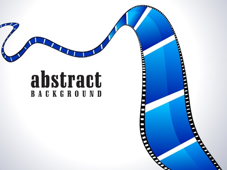 celluloid: abstract shiny blue film roll  Illustration