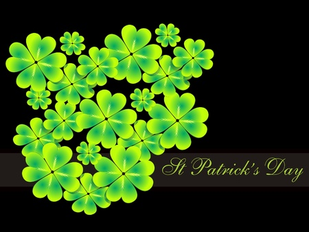 abstract st patrick clovers background Stock Vector - 10763452