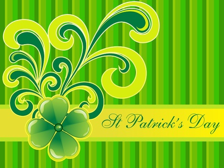 four leafed: abstract st patrick clovers background