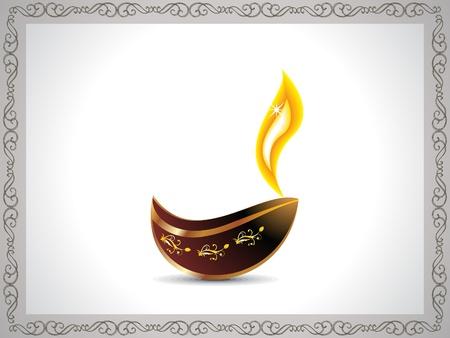 divinit�: abstrait artistique Diwali avec la fronti�re