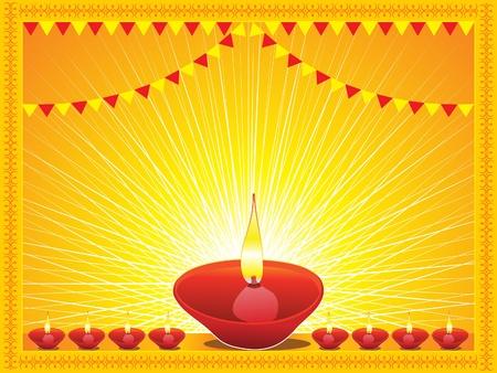 divinit�: mod�le abstrait offre diwali Illustration