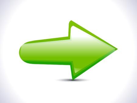 e commerce icon: abstracto verde icono de la flecha Vectores