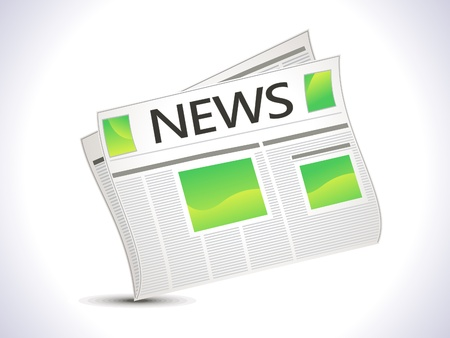 lately news: abstract news paper icon Illustration