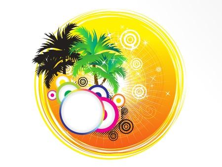 party dj: abstrait artistique de vacances d'�t� vecteur illustration th�me