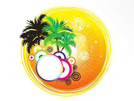 clima tropical: vacaciones de verano abstracta artística tema ilustración vectorial