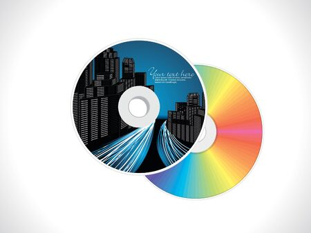 abstract building based cd cover pack design vector illustration Stock Vector - 11162023