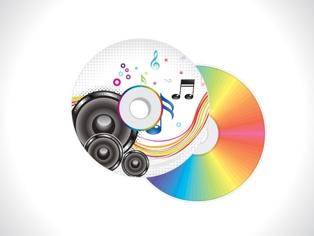 computer program: abstract colorful musical cd cover template vector illustration