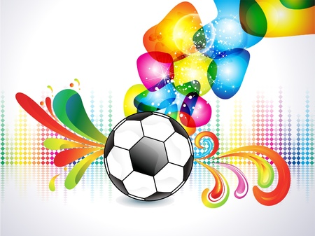 sports event: abstract colorful football explode background vector illustration