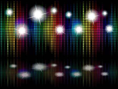 abstract rainbow sparkle stage vector illustration