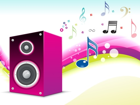 abstract musical sound background vector illustration Vector