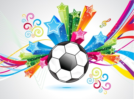 grung: abstract colorful football explode background vector illustration
