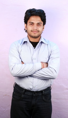 yong indian male model wearing shirt close up Stock Photo - 11287766