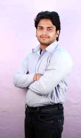 yong indian male model wearing shirt close up Stock Photo - 11287760
