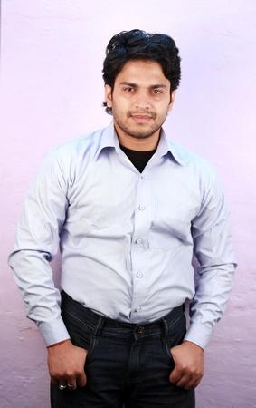 yong indian male model wearing shirt close up Stock Photo - 11287767