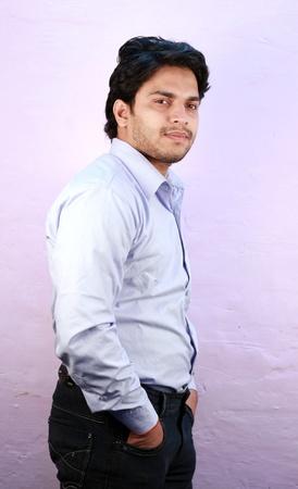 yong indian male model wearing shirt close up Stock Photo - 11287762