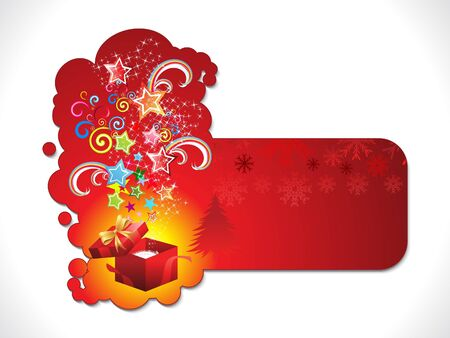 abstract artistic christmas sticker vector illustration Vector