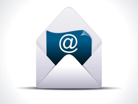 email us: abstract dettagliato posta icona illustrazione vettoriale