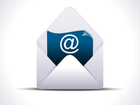abstract detailed mail icon vector illustration