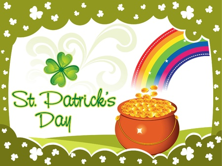 patric background: abstract st patrick background vector illustration