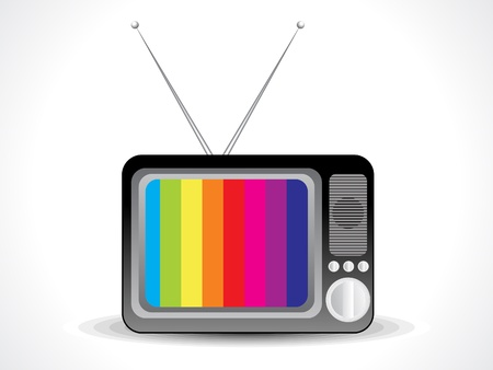 irritate: abstract television icon vector illustration