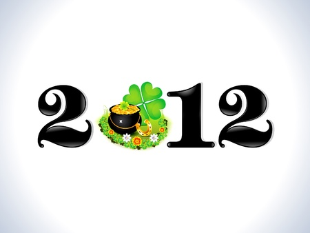 abstract st patrick based new year text template vector illustration Vector