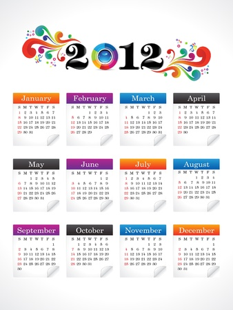 abstract new year calender illustration