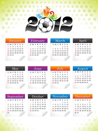 abstract sports calender template illustration Stock Vector - 11661632
