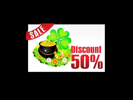 abstract st patrick discount card template illustration Stock Vector - 11661629