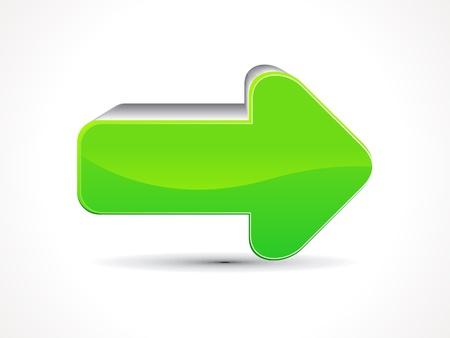 fleche verte: r�sum� vert illustration brillante ic�ne repr�sentant une fl�che