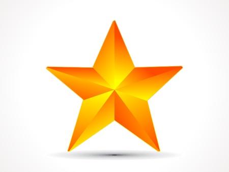 abstract shiny golden 3d star icon illustration Illustration