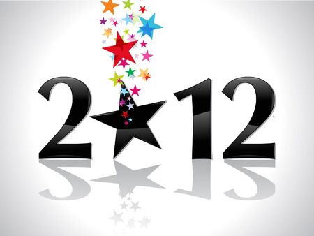 holliday: abstract new year text with star vector illustration