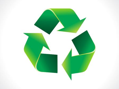 abstract shiny eco recycle icon vector illustration Stock Vector - 11840929