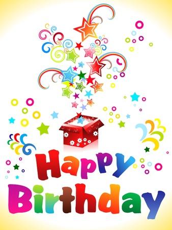 抽象的な誕生日カード テキスト ベクトル イラスト