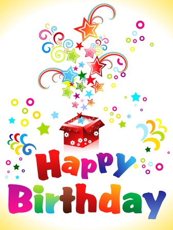 abstract birthday card with text vector illustration Vector