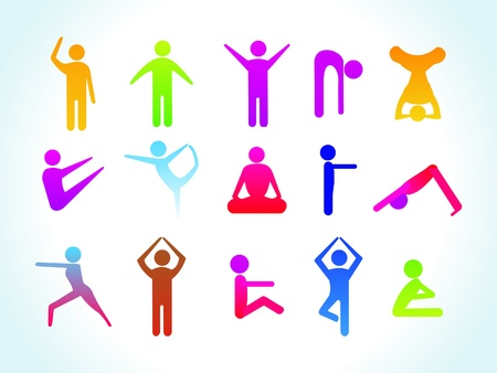 abstract yoga people icon template vector illustration Vector