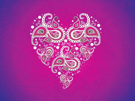 abstract artistic pink heart wallpaper illustration Vector